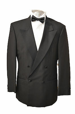 Black Evening Tuxedo Jackets Double Breasted Excellent Condition Ex-hire