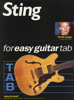Sting for Easy Guitar TAB Music Book 19 Hits Songs Fields of Gold So Lonely