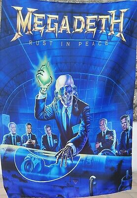 MEGADETH Rust in Peace FLAG CLOTH POSTER WALL TAPESTRY BANNER CD Thrash Metal