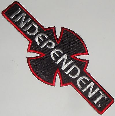 INDEPENDENT TRUCK CO' - Bar & Cross  - Iron On / Sew On Skateboard Patch