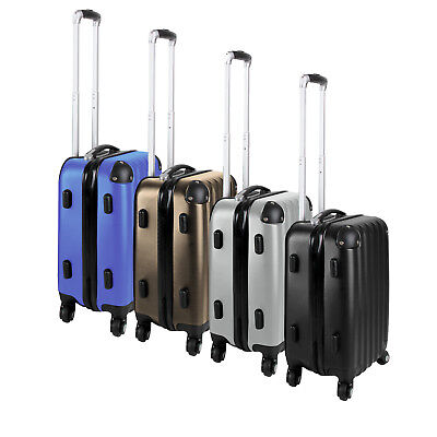 3 Piece Luggage Set Suitcase ABS Spinner Hard-Shell Trolley Cabin Hand Travel