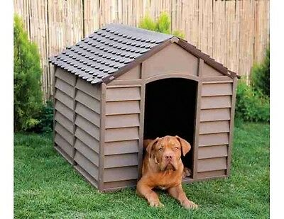 Extra Large Dog Kennel Kennels Pet Plastic House Home Waterproof Heavy Duty Yard