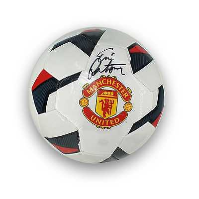 Eric Cantona Signed Manchester United Soccer Ball Autographed