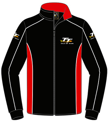Isle of Man TT fleece 17AF1 -  TT Fleece black red