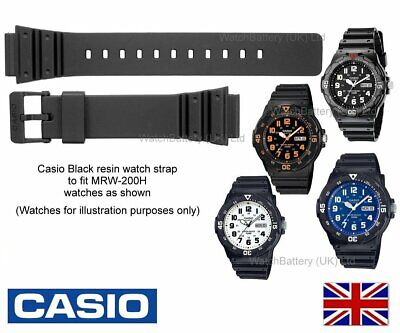 GENUINE CASIO Watch Strap Band for MRW-200H, MRW200H, MRW 200, MRW 200H - Black