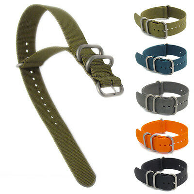 Heavy Military NATO Watch Strap Nylon Webbing Oval Loops XL 300mm length C050