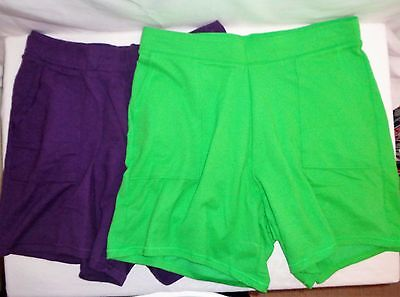 LOT of SHORTS XL 1X 3 Pr. Women's Lounge Pull On JMS/Mossimo Casual Green/Purple