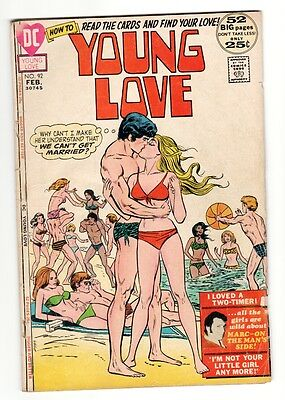 Young Love #92 1972-DC-African-Americans-swimsuits Giant Issue-Rare-G