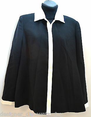 NWT $148.00 Mimi maternity Black & White career lined blazer suit top SIZE SZ S