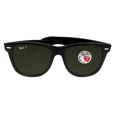 rb2140 901 yila  NEW Genuine Ray-Ban RB2140-901/58 Standard Wayfarer Black Polarized  Sunglasses