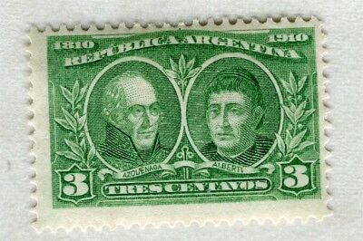 ARGENTINA; 1910 early Centenary issue Mint hinged 3c. value