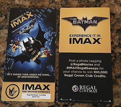 The Lego Batman Movie IMAX Collectible Ticket Regal FREE SHIPPING