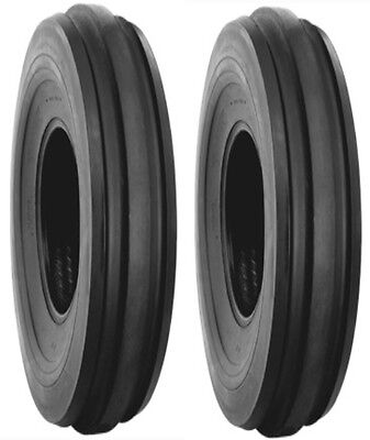 TWO  6.00-16 LRC Harvest King F2 FRONT Tractor tires & tubes, DEERE, FARMALL etc