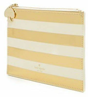 kate spade New York Gold Stripe Pencil Pouch *NWT* FREE Shipping