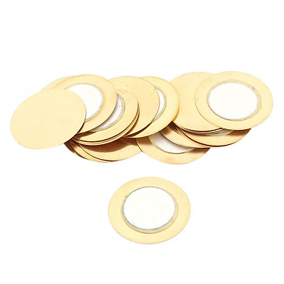uxcell 20 Pieces 20mm Dia Film Gasket Piezo Ceramic Disc Piezoelectric Buzzer