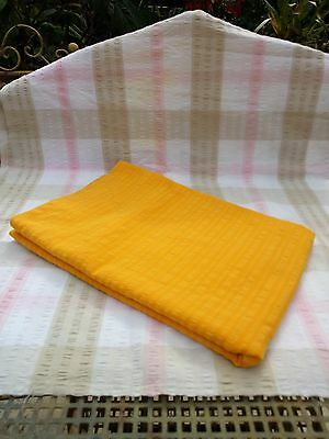 Fabulous Retro Vintage Orange Seersucker Tablecloth