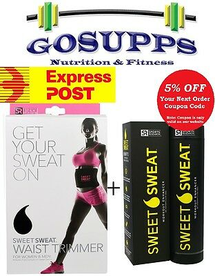 Sports Research Sweet Sweat Waist Trimmer Belt P + Stick Workout Enhancer 182g