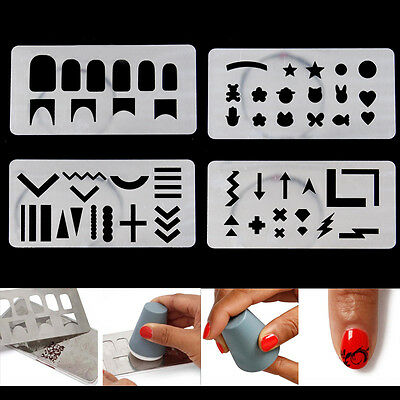 Nail Art Pochoir Stamping Template Plaque Ongle Image Vernis Stamp Décor Outil