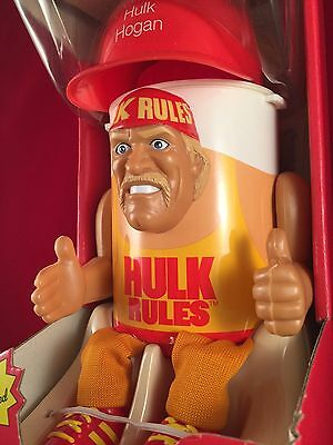 Vintage Hulk Hogan Cup Cooler Storage Container Still In Box Collectible