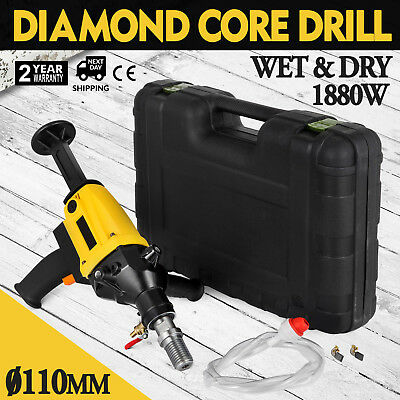 Diamond Core Drill Two Speed Wet & Dry Cutting 80mm Capacity Stable Unique
