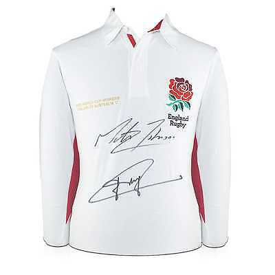 Jonny Wilkinson And Martin Johnson Signed England Rugby Shirt