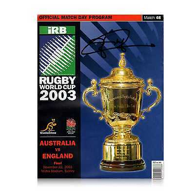 Jonny Wilkinson Signed Original 2003 World Cup Programme