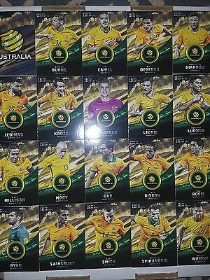 2016 17 Tap N Play Australia Socceroos + Matildas team sets of 39 football cards