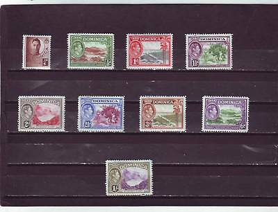 a123 - DOMINICA - 1938-40 MNH DEFINITIVES 9v ALL DIFFERENT