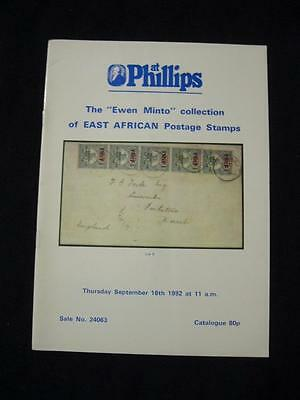 Phillips Auction Catalogue 1982 East African 'minto' Collection