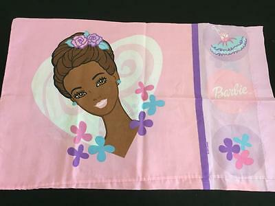 Barbie pillowcase standard twin size African American doll 2001 Dan River