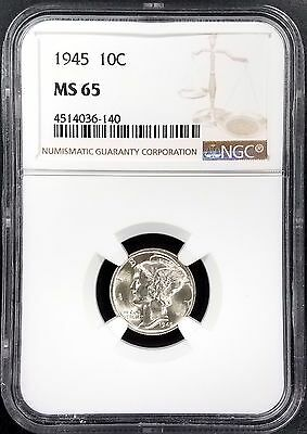 1945 Mercury Dime certified MS 65 by NGC!