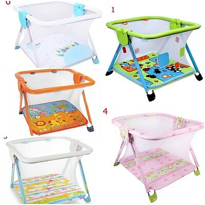 Infant Baby Playpen Foldable Play Station Travel Cot Square Portable Pop Up