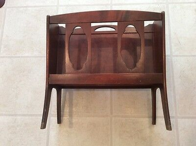 Vintage Ferguson Bros. 1940's Mahogany Wood Magazine Rack Antique # 7857