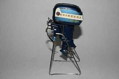 1958 K&O Evinrude Big Twin 35 Horse Battery Operated Boat Motor, Nice Original