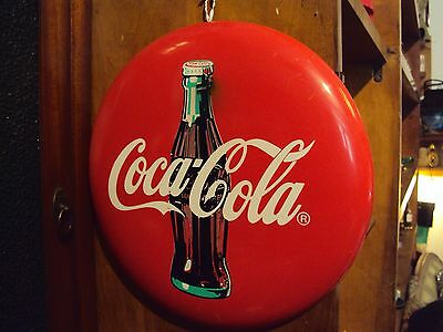 insegna smaltata coca cola bottone 1960 cm 30