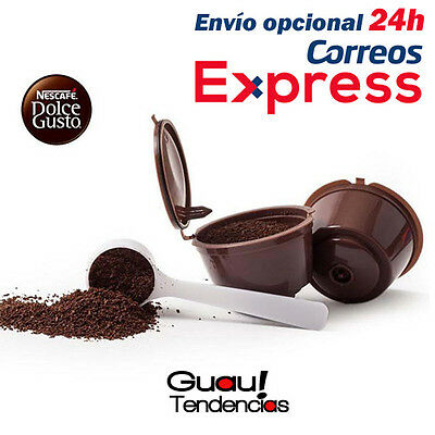 Capsulas Cafe Recargables Dolce Gusto Rellenables Capsules Ricaricabili + Cucha