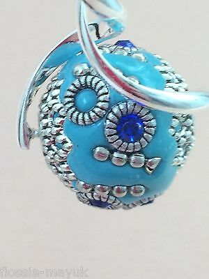 UK Hand-Made Gorgeous Silver-Plated Double Twisted Turquoise Beads Earrings