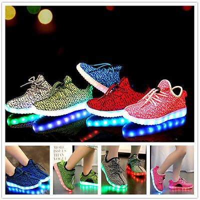 Women Rechargeable Led light up sneaker luminous lace shoes with USB
