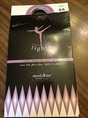 REVOLUTION DANCEWEAR Women's Footed Color-Flow Tights Style 1001 Black size SA