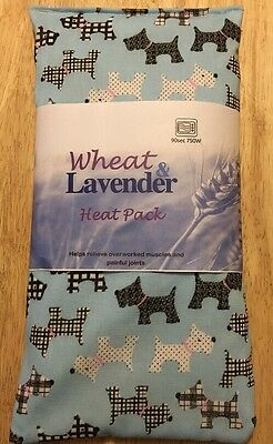 Lavender microwave Wheat Bag Heat/Cool Pack  Scottie Dog Westie Small Dog Blue