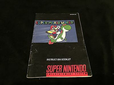 Super Mario World Booklet (Manual Only) Super Nintendo SNES [NO GAME]