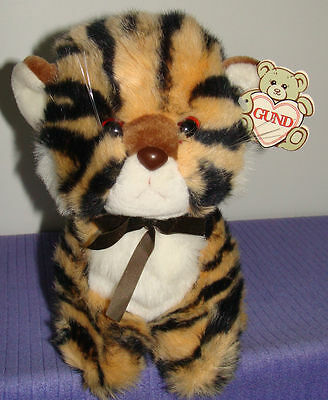 "Gund Tamba Tiger 10"" W/paper Tag 9017 Vintage 1982 ~ At"