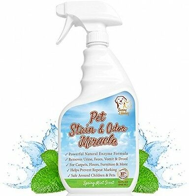 Pet Stain and amp; Odor Miracle - Enzyme Cleaner For Dog And Cat Urine, Feces,