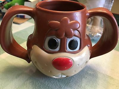 Vintage NESTLE QUIK Rabbit Chocolate Drinking MUG/CUP Plastic Made in USA