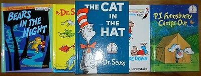 Dr Seuss 5Book Set I Can Read Bright and Early One Fish Two Fish Cat in Hat New