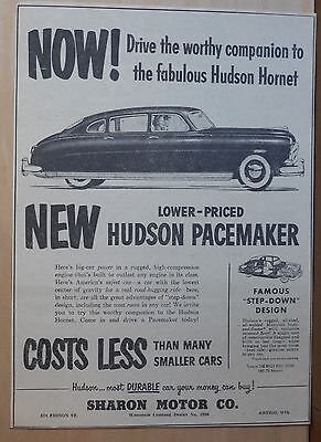 Vintage 1951 newspaper ad for Hudson -  Pacemaker, Worthy Companion to Hornet