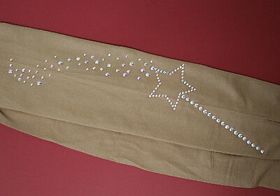 Fairy Bling!! Over The Boot Or Footed Ice Skating Tights Tan Or Black Add Colour
