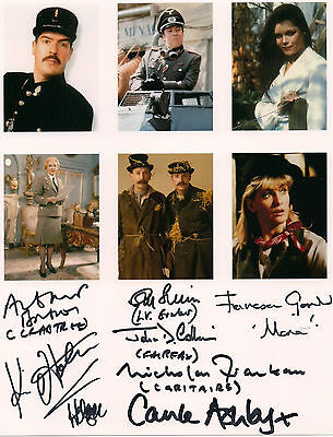 ALLO ALLO 7 Signatures Cast Members Original Hand Signed Autograph 8x10 Photo