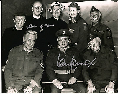 IAN LAVENDER & FRANK WILLIAMS Dad's Army Original Signed Autograph 8x10 Photo 1