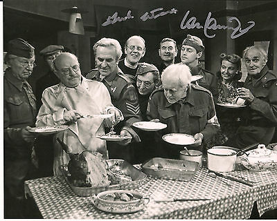 IAN LAVENDER & FRANK WILLIAMS Dad's Army Original Signed Autograph 8x10 Photo 5